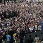 Protest leader Suthep Thuagsuban declares partial victory but protest continues