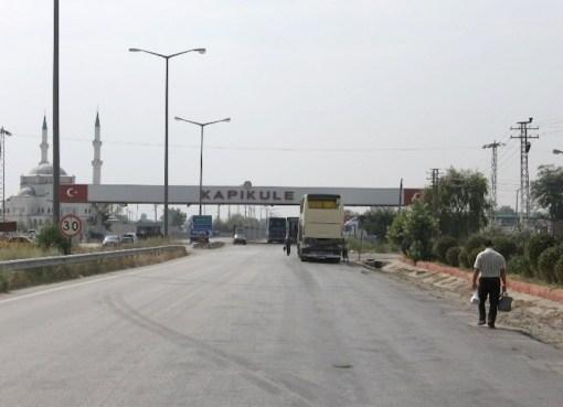 Turkish-Bulgarian border in Kapıkule, Edirne Province