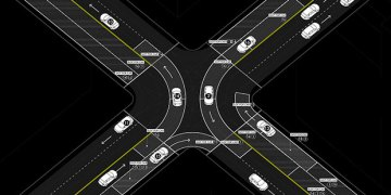 autonomous-car-on-intersection