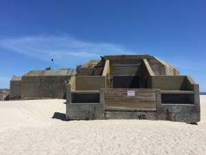 The army bunker on the beach