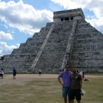 John and I against the main pyramid