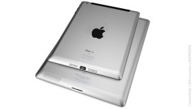 Apple iPad Mini on iPad 3 white