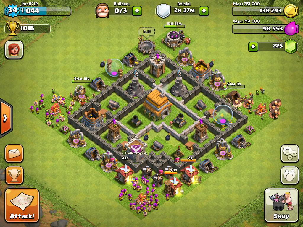 Top 10 Clash of Clans Town Hall 6 Trophy Base Layouts |