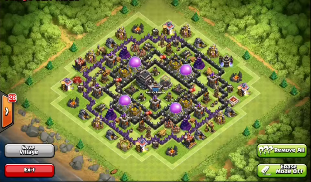 Best clash of clans town hall level 9 defense base design 3 jpg