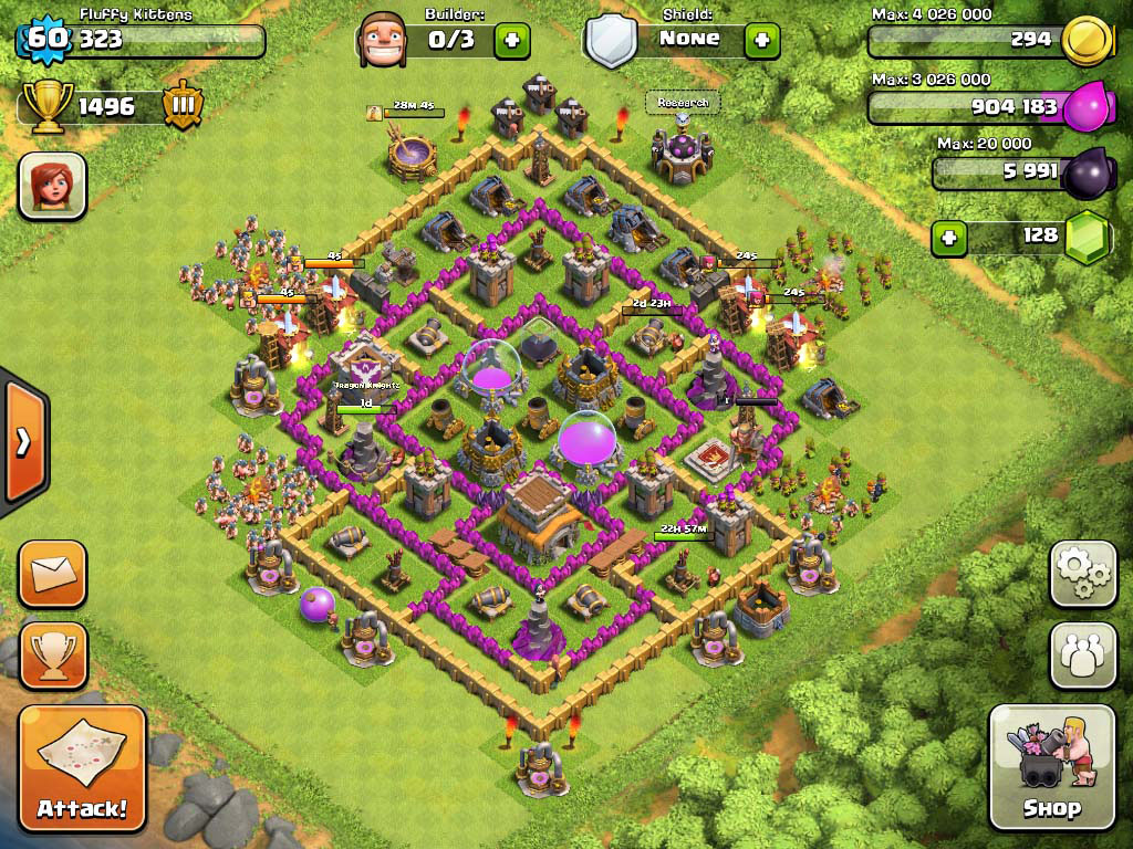 Clash of Clans Base Town Hall 8 Defense