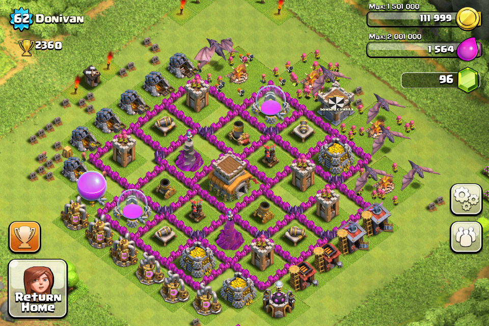 Top 10 Clash Of Clans Town Hall Level 8 Defense Base Design 7