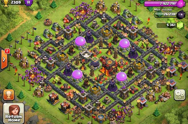 Of clans town hall level 10 defense base design thats my top 10