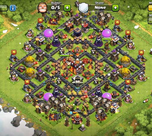 10 town hall level 10 clash of clans support