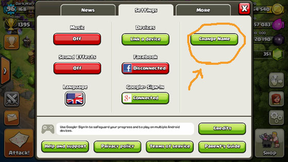 To Change Name In Clash Of Clans  Change Your Name In Clash Of Clans