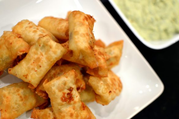 Green Chile Wontons
