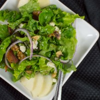 Bacon, Gorgonzola & Pear Salad with a Brandy Vinaigrette