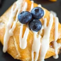 Peach Croissants with an Orange Liqueur Icing