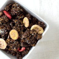 Dark Chocolate, Strawberry-Banana Granola