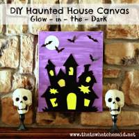 Haunted House Canvas Art Halloween Decoration