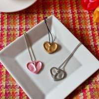 Heart Thumbprint Charm Necklaces & DIY Gift Wrap