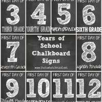 FREE Chalkboard First Day of School Signs