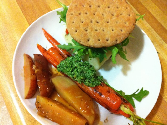 Grilled Carrots with Carrot Greens Pestoepper and Paprika