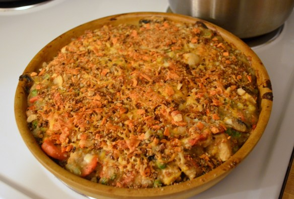 chicken pot pie with quinoa crust