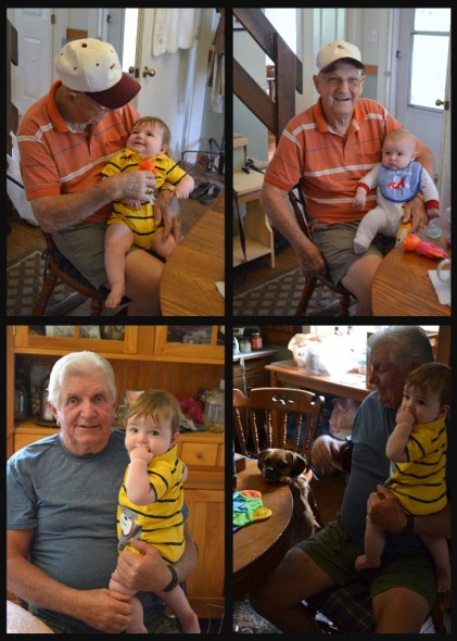 grandpa and dad with boys