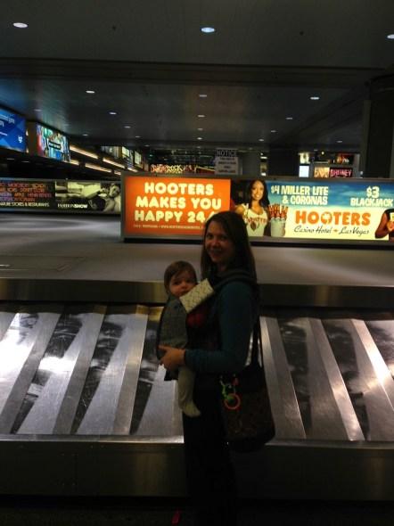 airport baggage claim hooters