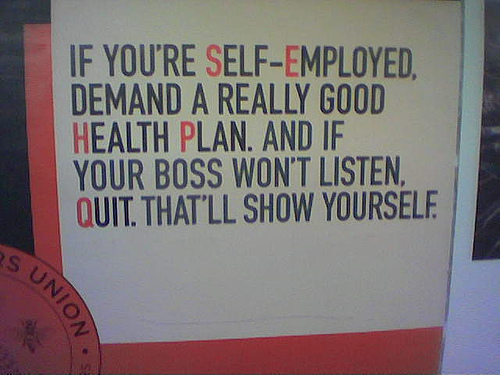 If you're self-employed