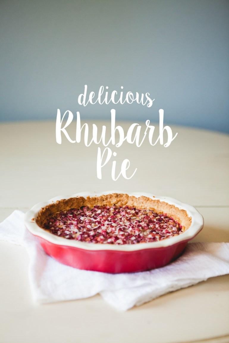 Delicious Rhubarb Pie Recipe| thatwemighthavejoy.com