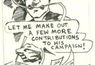 When not attempting to beat Democrats, Larry Hogan contributes money to their campaigns. This 1992 editorial cartoon points out the electoral drama of the day.  See more in The Story of The Rag
