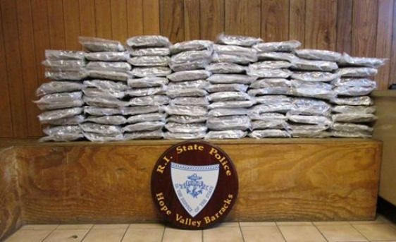 Rhode Island State Police nab 85 pounds of pot