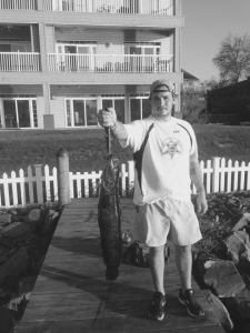 Taylor Mooney with Snakehead