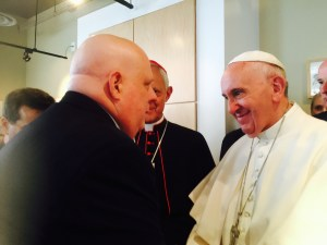 Maryland Gov. Larry Hogan meets Pope Francis.