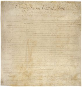 The Bill of Rights - the first ten amendments to the Constitution.