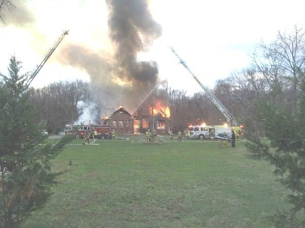 Accokeek fire totally destroyed in spite of sprinkler system PGFD photo