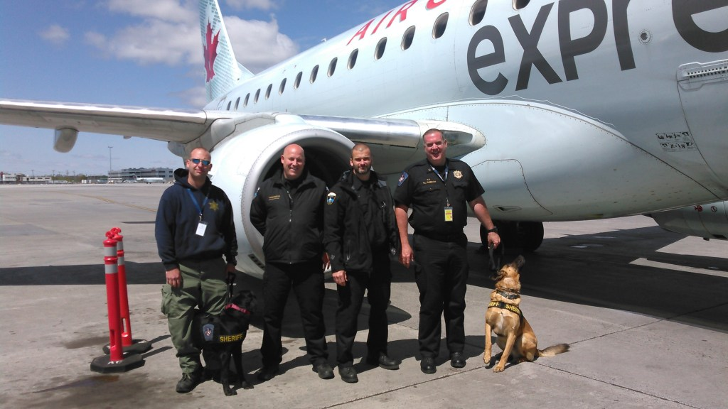 The K-9 search teams of St. Mary's Sheriff Tim Cameron went to Canada to training instead of nearby airports in Baltimore, Richmond or Washington.