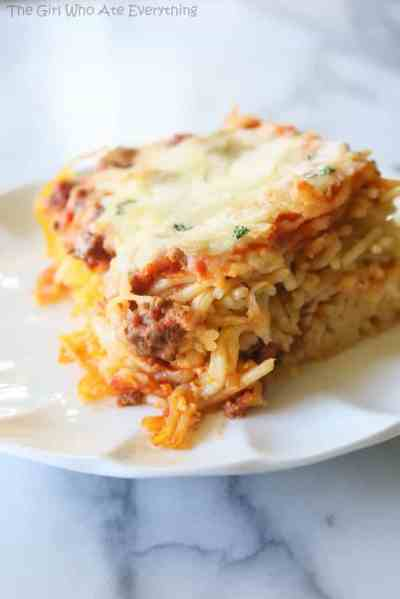 Baked Spaghetti - The Girl Who Ate Everything