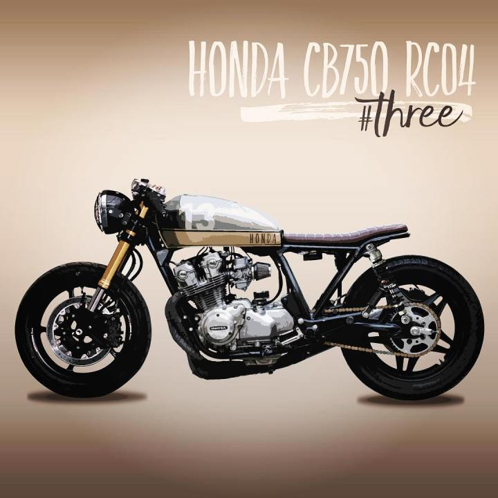 caferacerinspiration Three with some modifications made on my caferacer hondacb750hellip