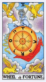 Tarotkaart Het Rad van Fortuin