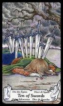 betekenis tarotkaart Zwaarden Tien