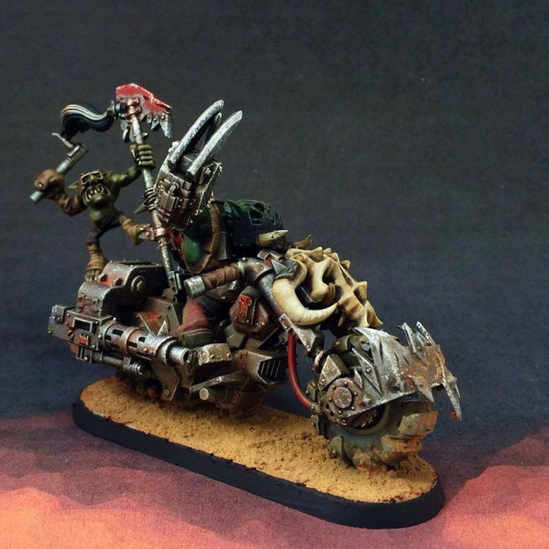 Ork Biker Test Model Warhammer 40k Orks commissions