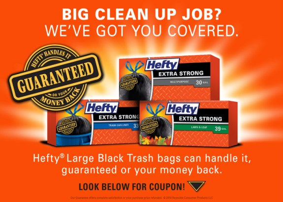 Hefty Extra Strong coupon landing page