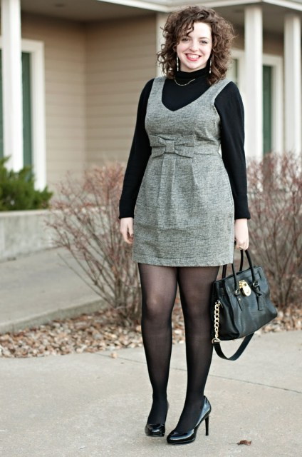 Forever 21 black and white dress with bow