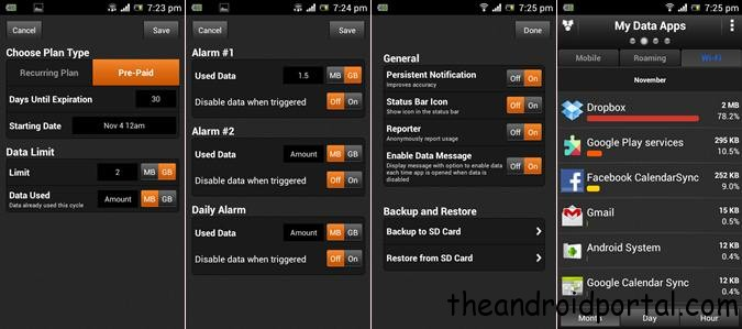 Set data limit for all android device My Data Manager   Control Data Usage On Android 2.2 & Above