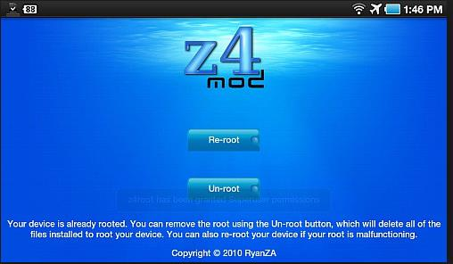 Root Samsung Galaxy Tab with One Click Z4root