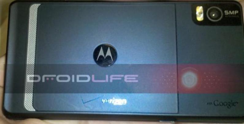 Motorola Droid 2 back view