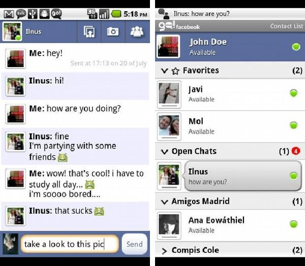 Go!Chat Facebook (Ads) android app