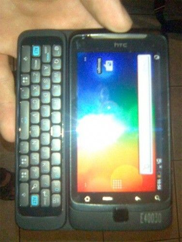 HTC Vision with Physical Qwerty Keyboard
