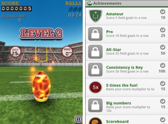 Flick Kick Field Goal arcade and action game