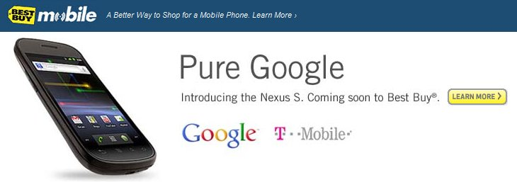 Best buy Nexus S Launch Details