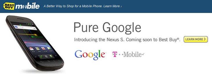 Best buy Nexus S Launch Details