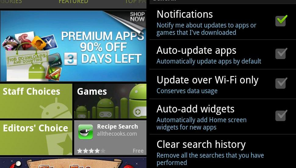 Android Market v3.4.4 Update
