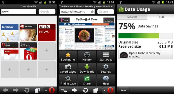 Opera Mobile - Android Browser